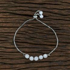 415398 Cz Adjustable Bracelet With Rhodium Plating