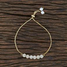 415400 Cz Adjustable Bracelet With Gold Plating