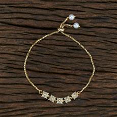 415402 Cz Adjustable Bracelet With Gold Plating