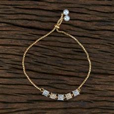 415404 Cz Adjustable Bracelet With 2 Tone Plating