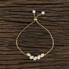 415405 Cz Adjustable Bracelet With Gold Plating