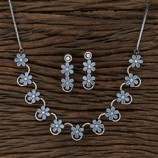 415417 Cz Classic Necklace With Black Rose Plating
