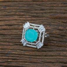 415425 Cz Classic Ring With Rhodium Plating