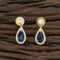 415463 Cz Short Earring With Gold Plating