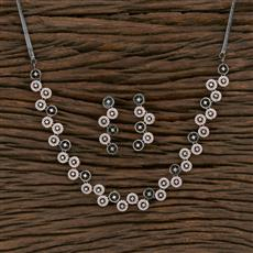 415486 Cz Classic Necklace With Black Rose Plating