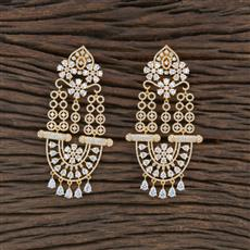 415502 Cz Classic Earring With Gold Plating