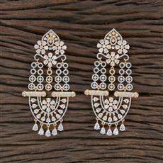 415503 Cz Classic Earring With 2 Tone Plating