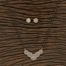 415605 Cz Classic Mangalsutra With 2 Tone Plating