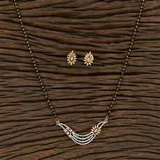 415606 Cz Classic Mangalsutra With 2 Tone Plating