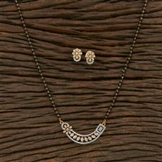 415607 Cz Classic Mangalsutra With 2 Tone Plating