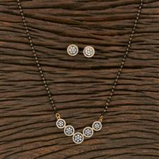 415609 Cz Classic Mangalsutra With 2 Tone Plating
