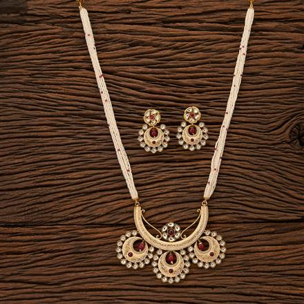 41935 Kundan Mala Pendant set with gold plating