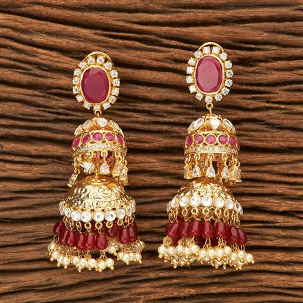 45364 Designer Jewellery Jhumkis with gold plating