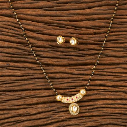 45524 Kundan Classic Mangalsutra with gold plating
