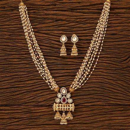 45624 Designer Mala Pendant set with gold plating
