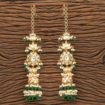 45761 Designer Jewellery Jhumkis with gold plating