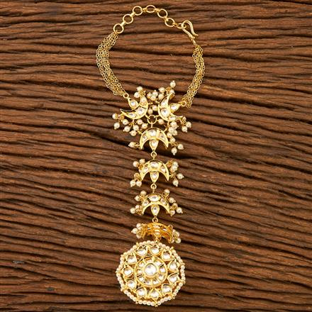 45783 Designer Jewellery Classic Hath Pan with gold plating