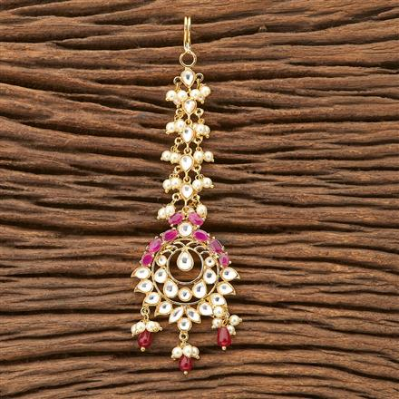 45812 Designer Jewellery Classic Tikka with gold plating