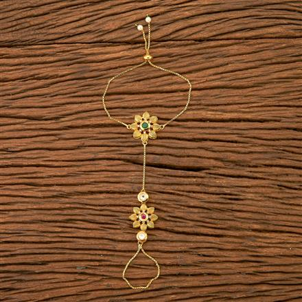 45846 Kundan Delicate Hath Pan with gold plating