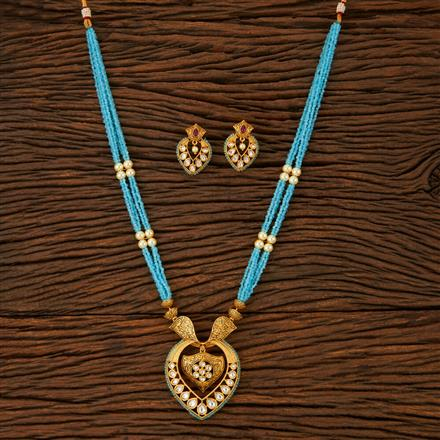 500035 Kundan Mala Necklace With Gold Plating
