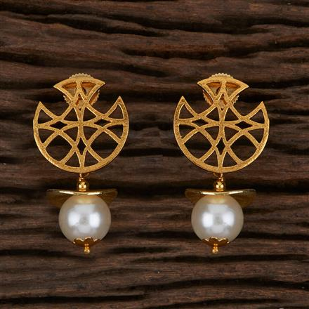 500037 Antique Delicate Earring with Gold Plating