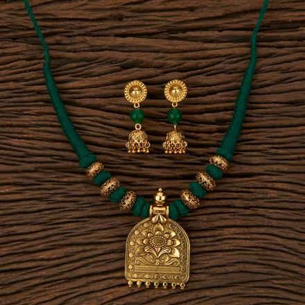 500048 Antique Classic Necklace with Gold Plating