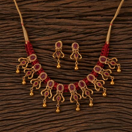 500052 Antique Classic Necklace with Gold Plating