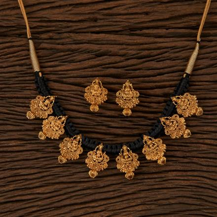 500053 Antique Temple Necklace with Gold Plating