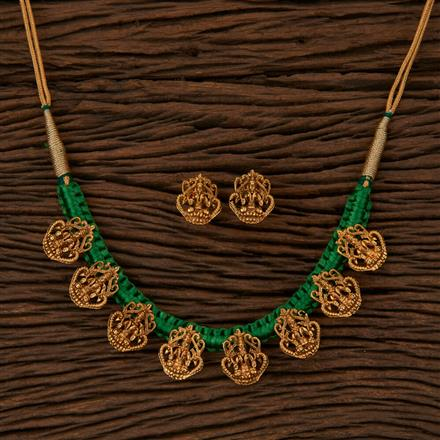 500054 Antique Temple Necklace with Gold Plating