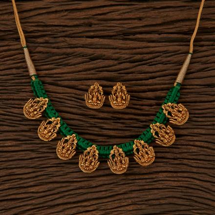 500056 Antique Temple Necklace with Gold Plating