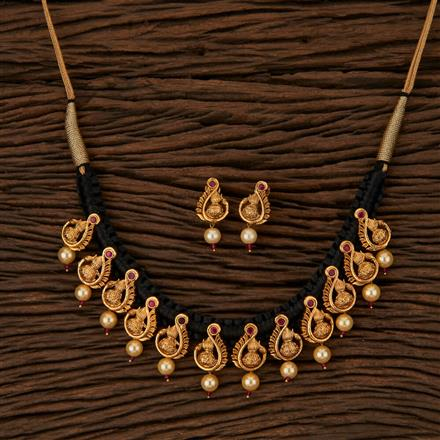 500057 Antique Peacock Necklace with Gold Plating