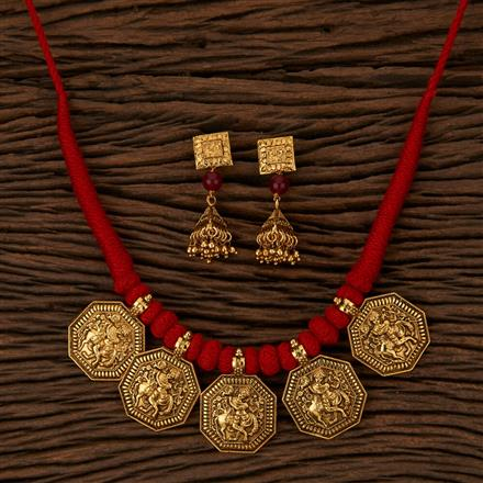 500060 Antique Temple Necklace with Gold Plating