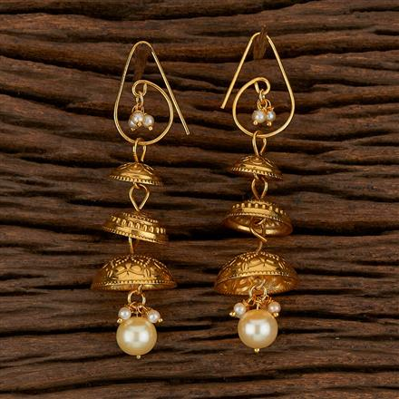 500129 Antique Long Earring With Gold Plating