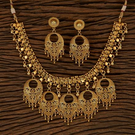 500153 Antique Plain Necklace With Gold Plating