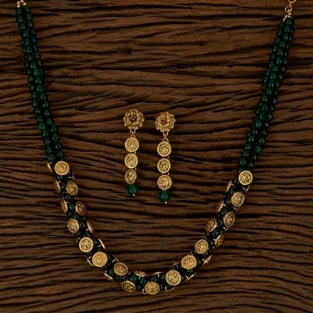 500155 Antique Mala Necklace With Gold Plating