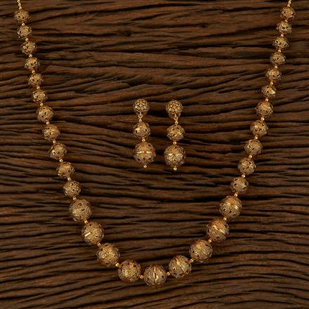 500158 Antique Mala Necklace With Gold Plating