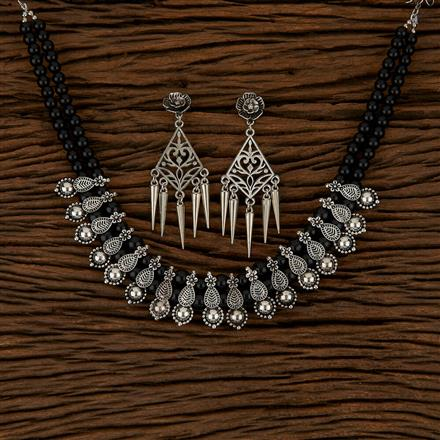 500164 Indo Western Classic Necklace With Oxidised Plating