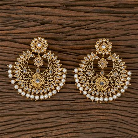 500181 Antique Chand Earring With Gold Plating