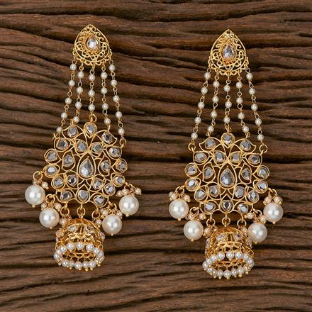 500188 Antique Long Earring With Gold Plating