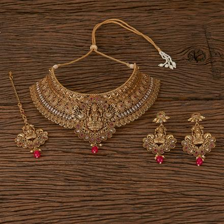 500189 Antique Peacock Necklace With Gold Plating
