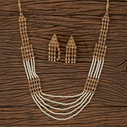 500192 Antique Mala Necklace With Gold Plating