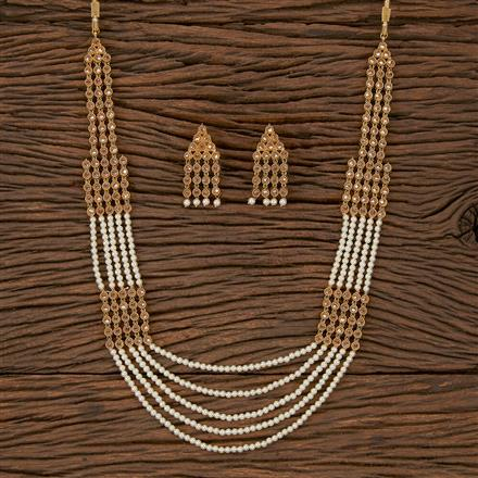 500193 Antique Mala Necklace With Gold Plating