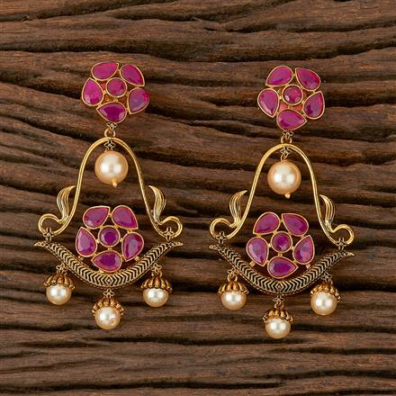 500196 Antique Classic Earring With Gold Plating