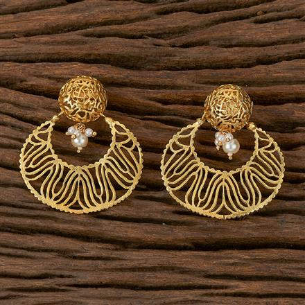500199 Antique Plain Earring With Gold Plating
