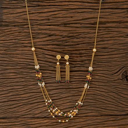 500222 Antique Mala Necklace With Gold Plating