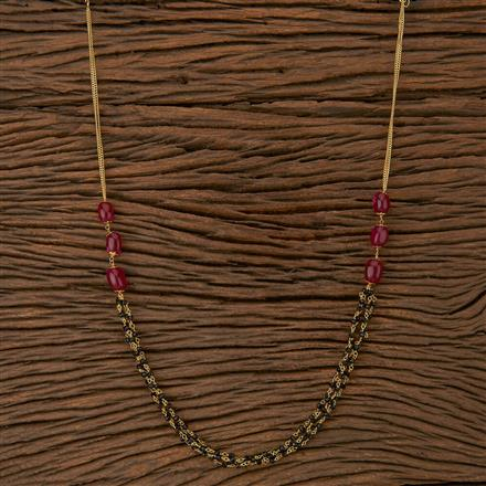 500223 Antique Mala Necklace With Gold Plating