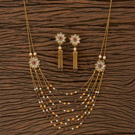 500227 Antique Mala Necklace With Gold Plating