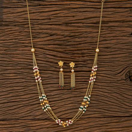 500234 Antique Mala Necklace With Gold Plating