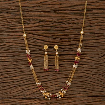 500236 Antique Mala Necklace With Gold Plating