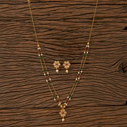 500239 Antique Mala Necklace With Gold Plating